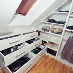 Garderoba na poddaszu